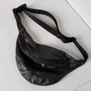Vintage super soft leather belt bag fanny bag